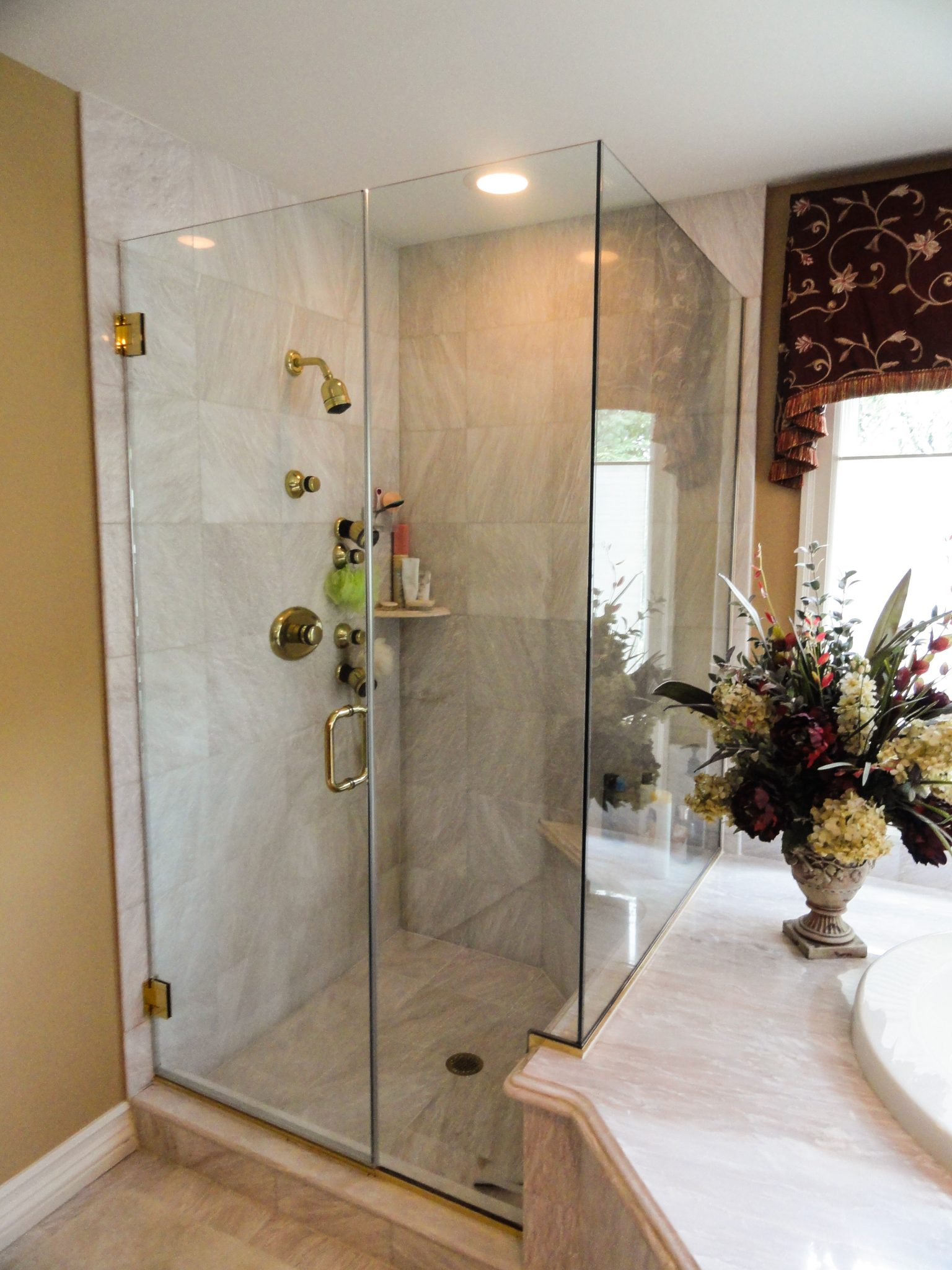 90 Degree Shower Using Clips Edited New Jersey Allied Glass
