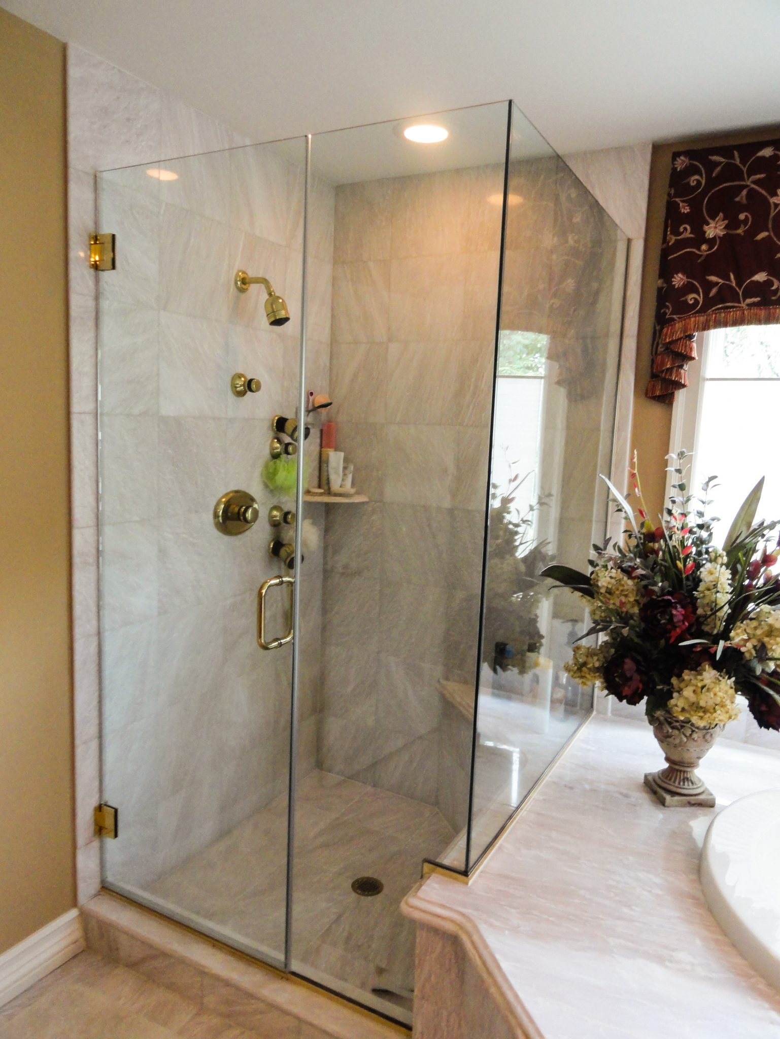 Frameless Shower Doors In New Jersey Allied Glass Mirror - Bathroom fixtures nj