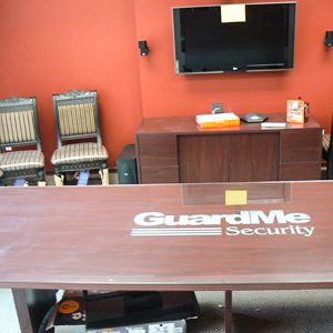 glass business table installation nj