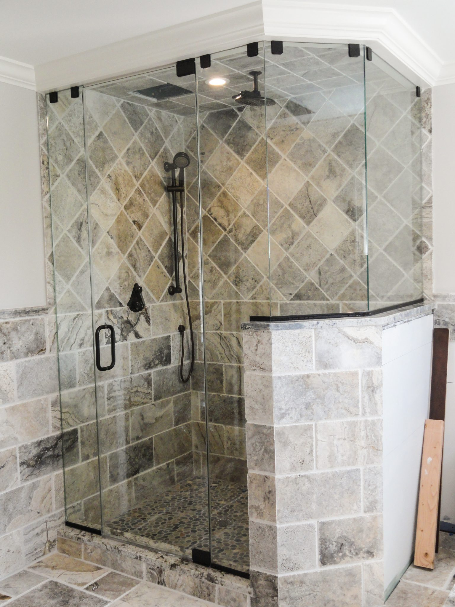Neoangle Steam Shower In Oil Rubbed Bronze Hardware With