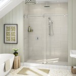 in line frameless glass shower
