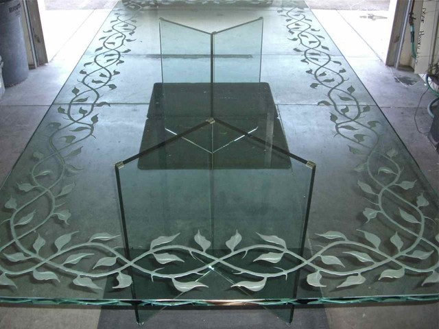 glass table top design nj