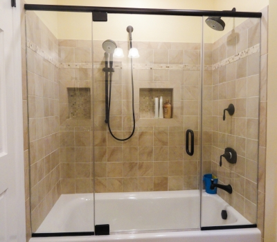 oil rubbed bronze bathtub doors frameless shower doors in new jersey allied glass amp mirror 7148